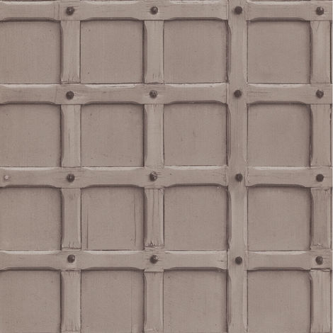 Erismann Imitations Geometric Wallpaper Brown 6317-11 Full Roll