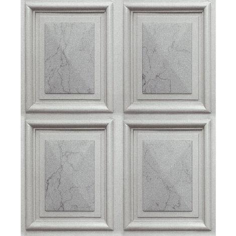 Erismann Imitations Geometric Wallpaper Grey/Silver 6319-10 Full Roll