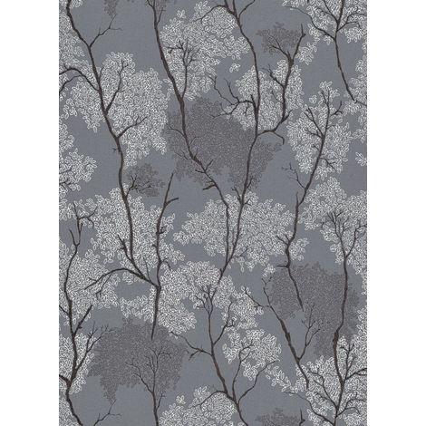 Erismann Japanese Concept Dark Grey Wallpaper