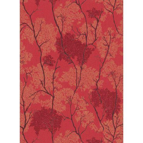 Erismann Japanese Concept Red Wallpaper