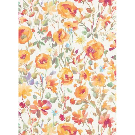 Erismann My Garden Floral Wallpaper Orange 6330-04 Full Roll