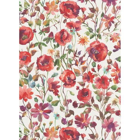 Erismann My Garden Floral Wallpaper Red 6330-06 Full Roll