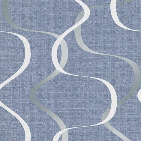 Erismann Retro Wallpaper Select Paste The Wall Blue Grey White