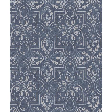 Erismann Vintage Wallpaper Blue 6337-08 Full Roll