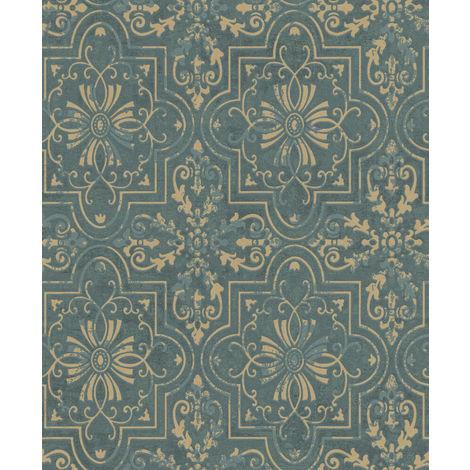 Erismann Vintage Wallpaper Green 6337-36 Full Roll