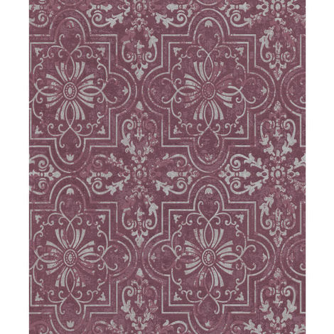 Erismann Vintage Wallpaper Purple 6337-16 Full Roll