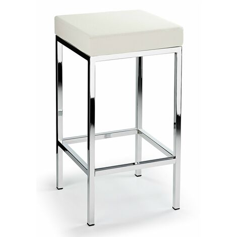 Ernest Bar Stool Padded Seat Chrome Frame Fixed Height