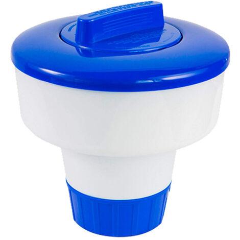 Erogatore galleggiante di grandi dimensioni Dispenser di cloro per piscina con tazza galleggiante per piscina, spa, vasca idromassaggio e fontana, perfetto per piscine fuori terra gonfiabili,bianco e blu