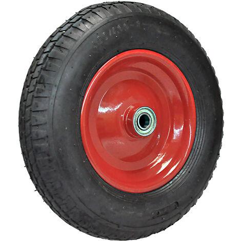 Ersatz-Rad-Reifen 400mm rot für Schubkarre Sackkarre Reifen Rad 4.80/4.00-8 auf Stahlfelge