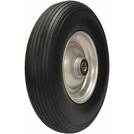 Ersatz-Reifen PU-Schaum 400mm schwarz für Schubkarre Sackkarre Reifen Rad 4,80/4.00-8 auf Stahlfelge