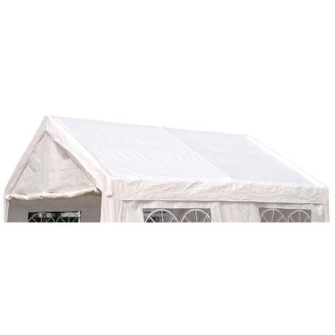 Ersatzdach / Dachplane PALMA für Zelt 3x4 Meter, PVC weiss 480g/m², incl. Spanngummis