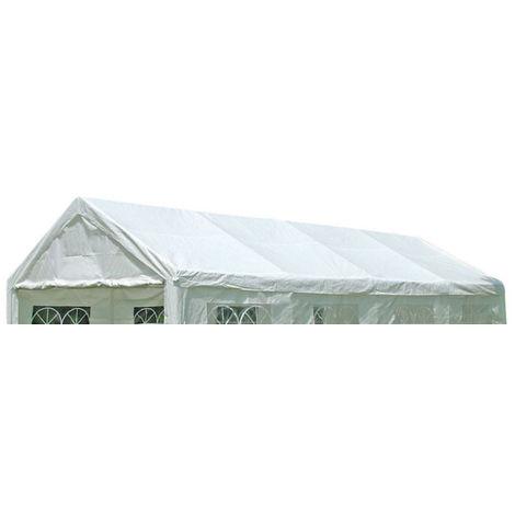 Ersatzdach / Dachplane PALMA für Zelt 4x8 Meter, PVC weiss 480g/m², incl. Spanngummis