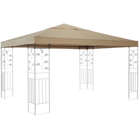 Ersatzdach für Blätter Pavillon 3x3m Pavillondach Sand Ersatzbezug