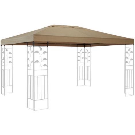 Ersatzdach für Blätter Pavillon 3x4m Pavillondach Sand Ersatzbezug
