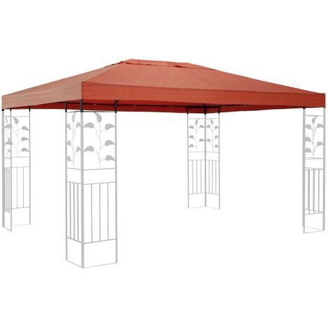 Ersatzdach für Blätter Pavillon 3x4m Pavillondach Terra / Rotorange RAL 2001 Ersatzbezug
