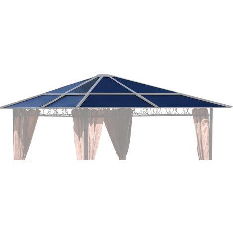 Ersatzdach für Hardtop Pavillon 3x3m Doppelstegplatten Polycarbonat Braun