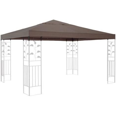Ersatzdach für Pavillon 3x3m Taupe Ersatzbezug Pavillondach
