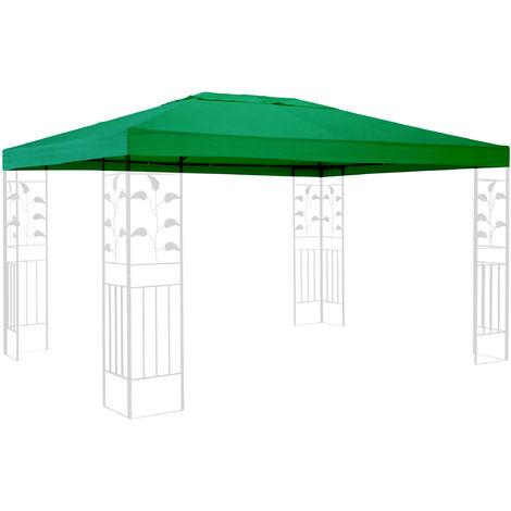 Ersatzdach für Pavillon 3x4m Grün Ersatzbezug Pavillondach