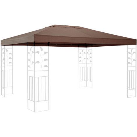 Ersatzdach für Pavillon 3x4m Taupe Ersatzbezug Pavillondach