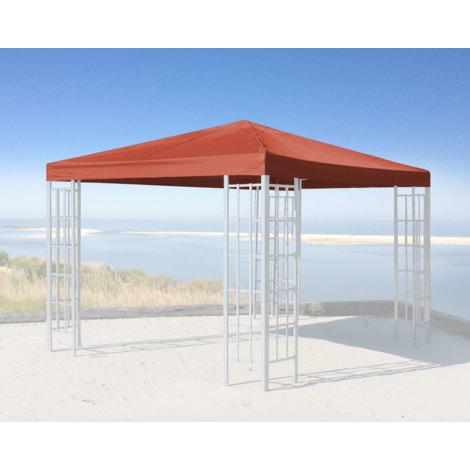 Ersatzdach für Rank Pavillon 3x3m Terra / Rotorange RAL 2001 Ersatzbezug Pavillondach