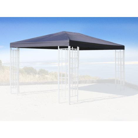Ersatzdach für Rank Pavillon 3x4m Anthrazit RAL 7012 Ersatzbezug Pavillondach