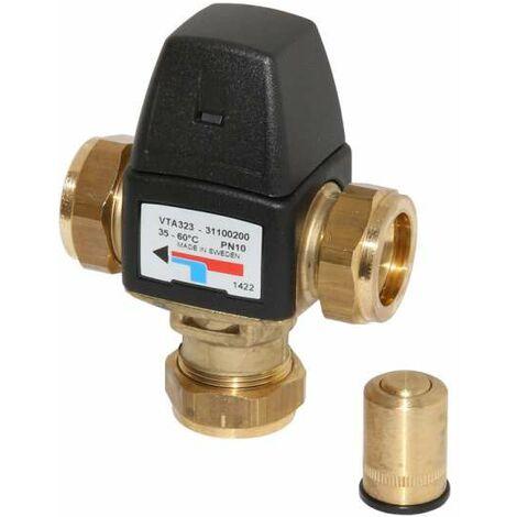ESBE Mischautomat Brauchwassermischer Serie VTA 323 35 - 60 Grad C DN 15 Kvs 1,5 KLF 22mm 31100200