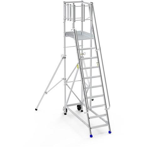 Escabeau à sortie latérale : accès à gauche - ERSL/P (plusieurs tailles disponibles)