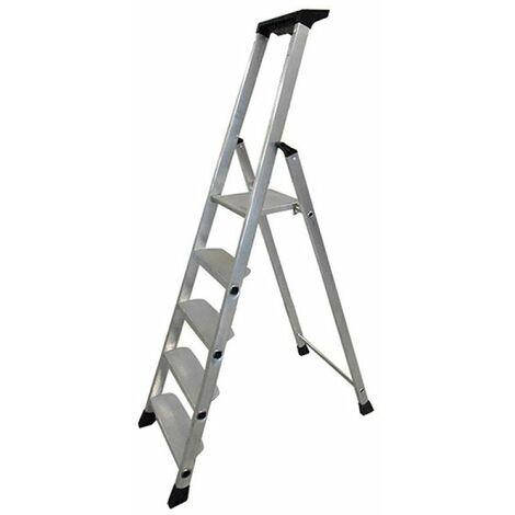 Escabeau aluminium - 5 marches xl (11 cm) - 3m00 pro