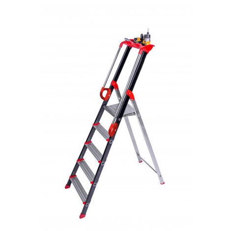 Escabeau avec rampe de sécurité pour usage professionnel occasionnel  (plusieurs tailles disponibles)