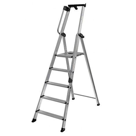 Escabeau avec rampe de sécurité pour usage professionnel régulier  (plusieurs tailles disponibles)