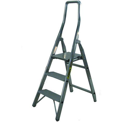 Escabeau de sécurité avec marches profondes de 12cm (plusieurs tailles disponibles)