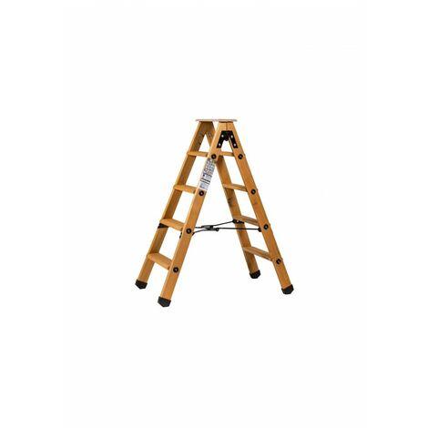 Escabeau double accès bois 2x4 marches + tablette - hauteur de travail 2,45m
