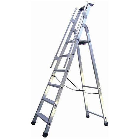 Escabeau grande hauteur avec rampes de sécurité (plusieurs tailles disponibles)