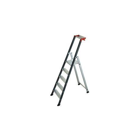 Escabeau Pro aluminium 5 marches Largeur de la base 42 cm