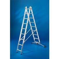 Escalera 2 tramos combinada - aluminio - ProfiLOT® - P7-01-006-V02