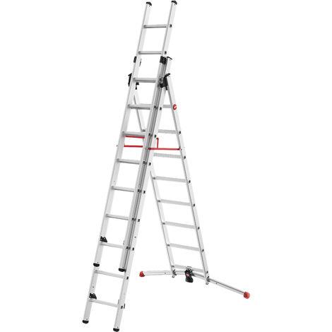 Escalera 3 tramos combinada - aluminio - ProfiLOT® - P7-01-007-V01