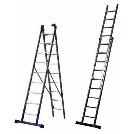 Escalera Alum.indal. 2 Tramos De 9p