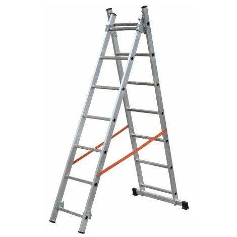 Escalera Aluminio 2 Tramos 2x9 Al315