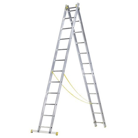 Escalera Aluminio 2 Tramos 8+8 Maurer