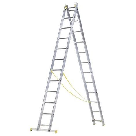 Escalera Aluminio 2 Tramos 8+8Peldaños Escanor
