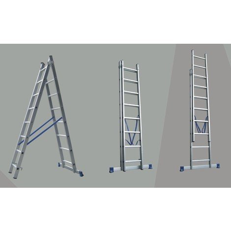 Escalera Aluminio 2X7 Peldaños 3,12 Mtrs