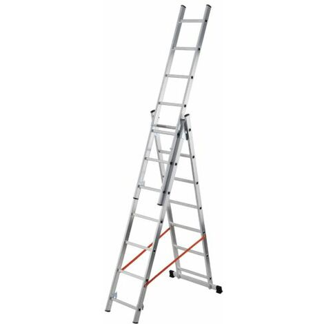Escalera Aluminio 3 Tramos 3x12 Al445