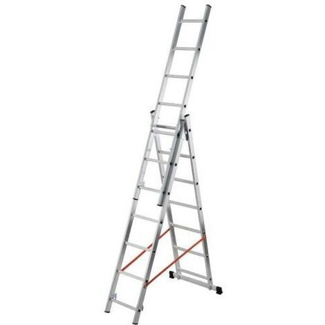 Escalera Aluminio 3 Tramos 3x9 Al415