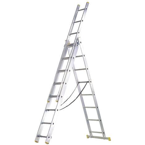 Escalera Aluminio 3 Tramos 7+ 7+ 7 Peldaños - NEOFERR..