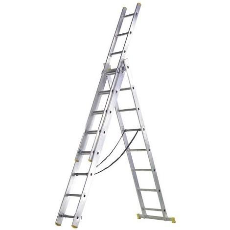 Escalera Aluminio 3X9 Maurer