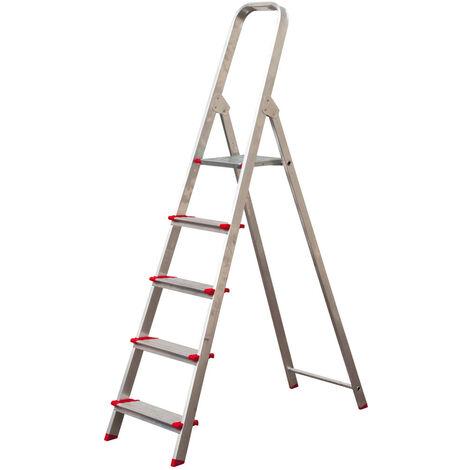 Escalera Aluminio 5 Peldaños Anchos - NEOFERR