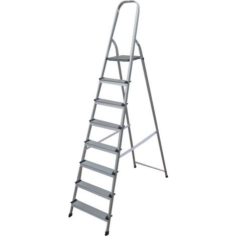 Escalera Aluminio 8 Peldaños Garantizado