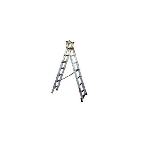 Escalera Aluminio Doble 2X15 Peldaños