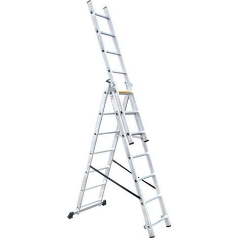 Escalera Aluminio Extensible 3X7 4.24mtrs