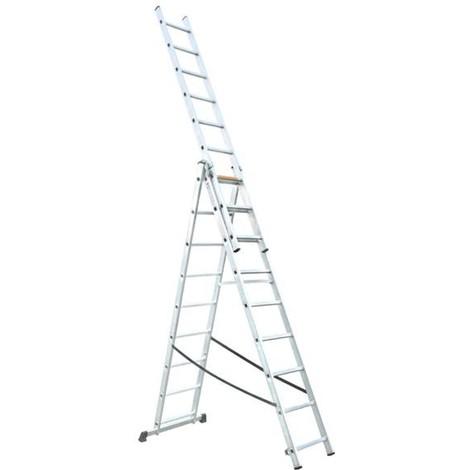 Escalera Aluminio Extensible 3X9